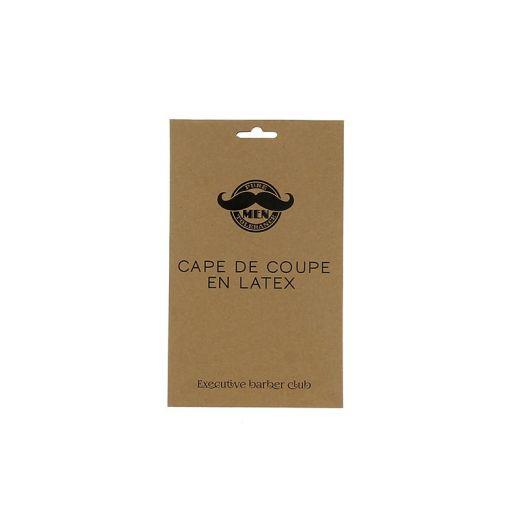 Pure Men Tolerance Cape de coupe en latex Noir, Cape