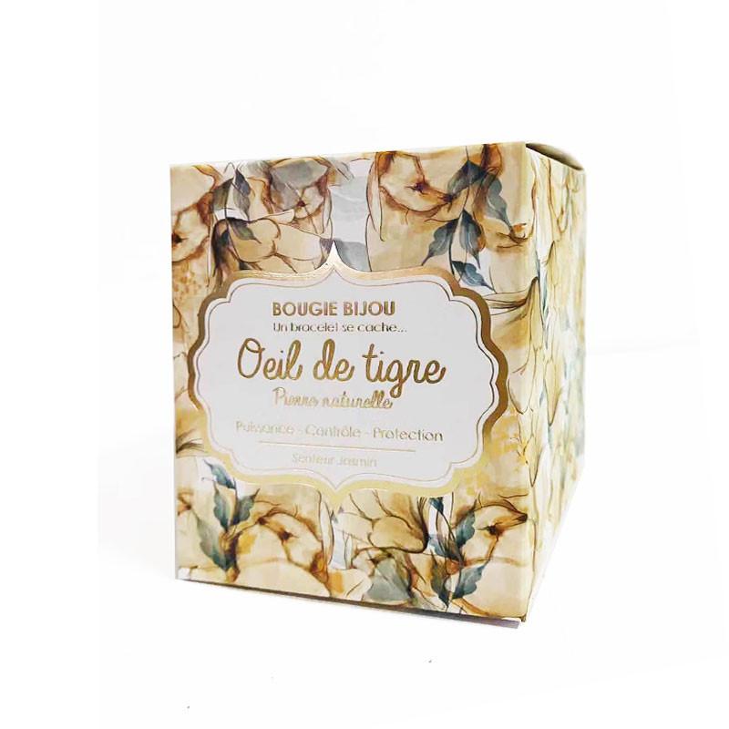 Stella Green Bougie senteur Jasmin avec bijoux surprise, Carnet et fourniture