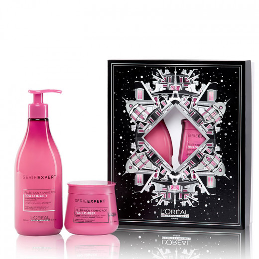 Coffret noël duo Pro Longer shampooing & masque
