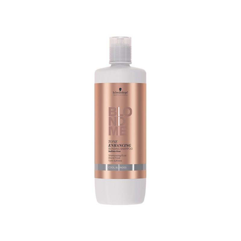 Schwarzkopf Shampooing éclat BlondMe Tone Ehnancing blond froid 1000ML, Shampoing repigmentant