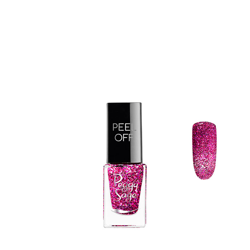 Peggy Sage Vernis à ongles Peel off Pink glitter 5ml 5ML, Vernis à ongles couleur