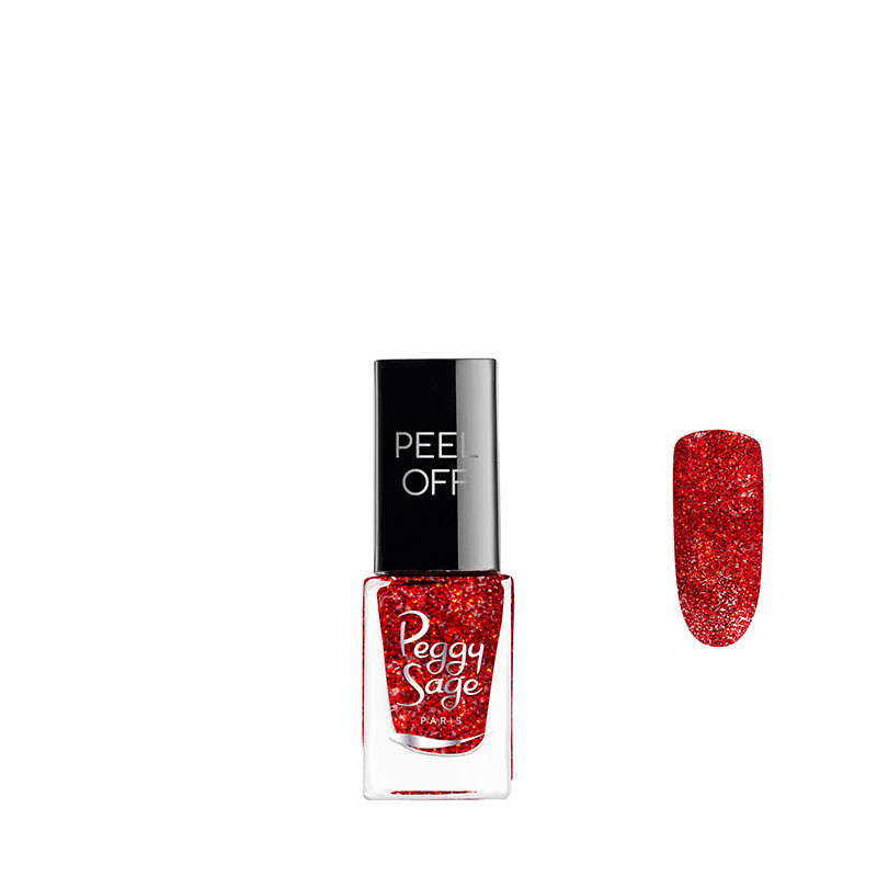 Peggy Sage Vernis à ongles Peel off Red glitter 5ml 5ML, Vernis à ongles couleur