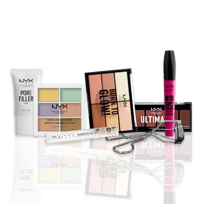 NYX Professional Makeup Kit maquillage - embellir son regard et son teint, Teint