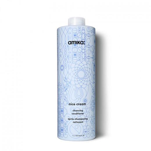 Amika Après-shampooing nettoyant Nice Cream 1000ML, Après-shampoing avec rinçage