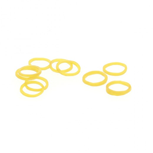 Lot de 400 elastiques blonds 16 mm de diamètre