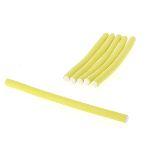 Coiffeo Flexi rollers 10mmx18cm x6 Jaune, Flexi rollers