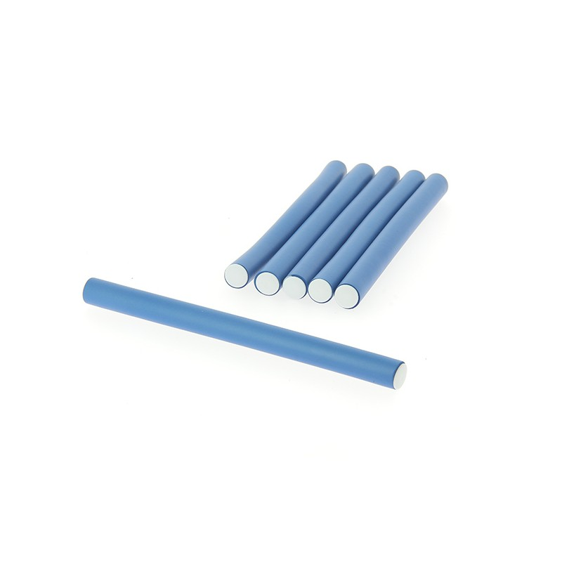 Coiffeo Flexi rollers 14mmx18cm x6 Bleu, Flexi rollers