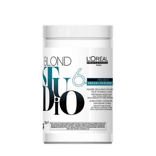 Poudre décolorante freehand pro keratine Blond Studio 350gr