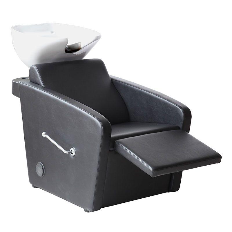 Bac de lavage accoudoirs arrondis avec repose jambes ajustable