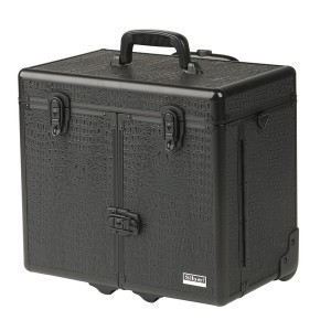 Sibel Valise aluminium avec trolley Windows, Mallette maquillage