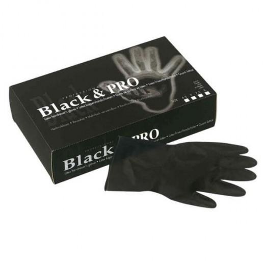 Sibel Gants latex satin taille M x20 Noir, Gant
