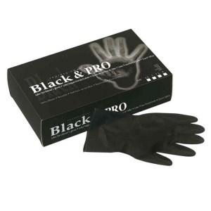 Gants latex satin taille L x20 Noir