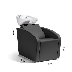 Bac de lavage complet avec fauteuil Elegantia Noir
