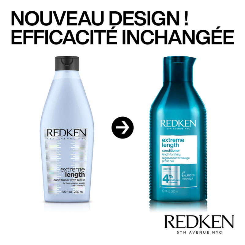 Redken Après-shampoing fortifiant cheveux longs Extreme Length NEW 300ML,