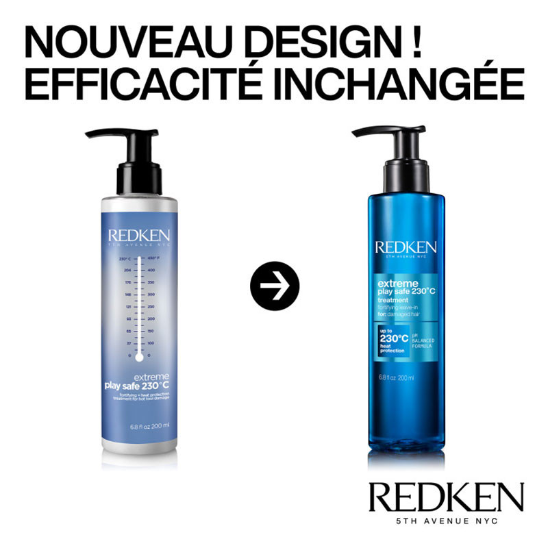 Redken Soin fortifiant protect thermique Extreme Play Safe NEW 200ML,