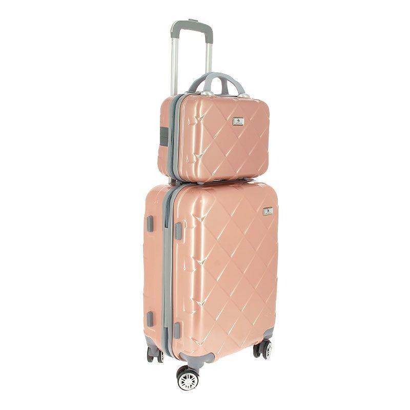 Set bagagerie valise trolley & vanity Rose