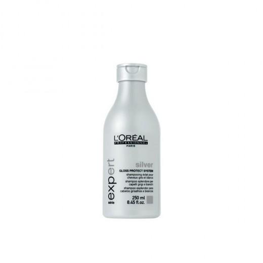 L'Oréal Professionnel Shampooing éclat Silver 250ML, Shampoing repigmentant