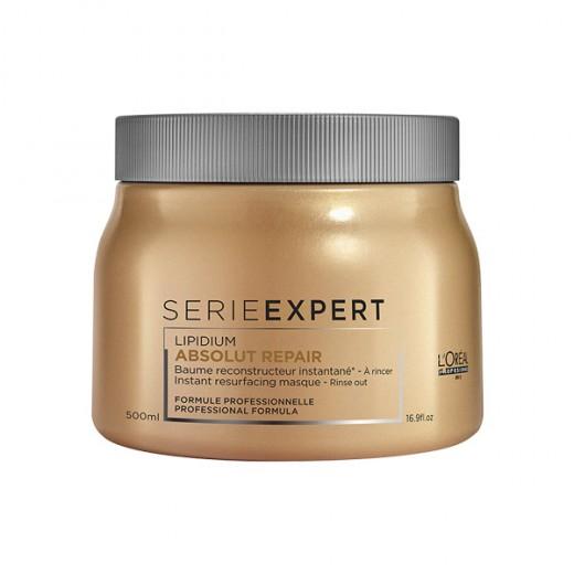L'Oréal Professionnel Masque reconstructeur Absolut Repair Lipidium 500ML, Masque cheveux
