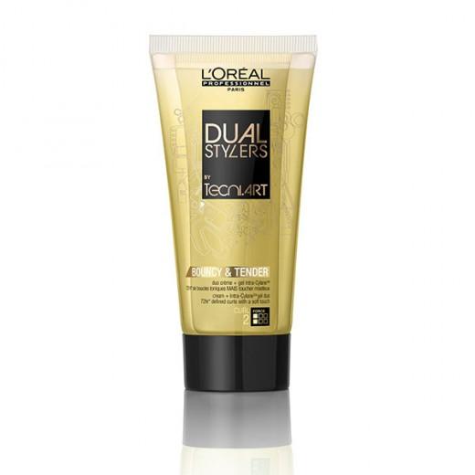 L'Oréal Professionnel Crème hydratante Bouncy and tender Dual styler Tecni.art 150ML, Crème cheveux