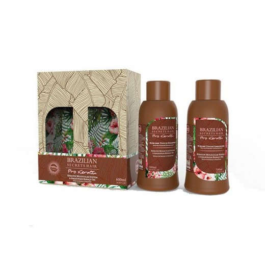 Brazilian Secrets Hair Kit Sublime Touch  Pro keratin (2x300ml) 600ML, Shampoing entretien