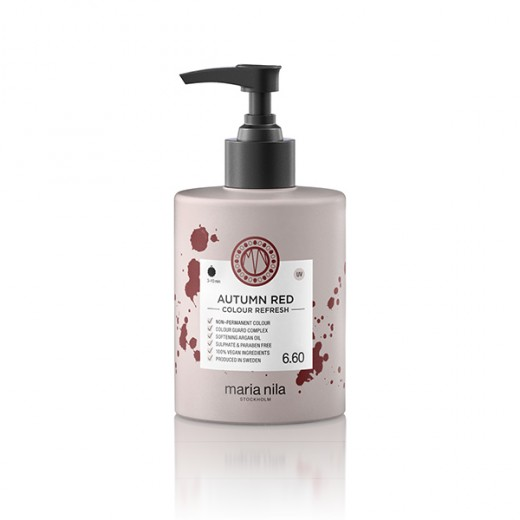 Maria Nila Masque repigmentant Colour Refresh 6.60 Autumn red 300ML, Après-shampoing repigmentant