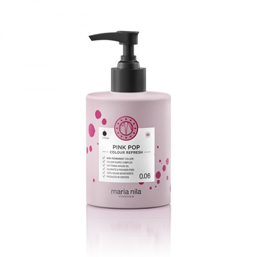 Maria Nila Masque repigmentant Colour Refresh 0.06 Pink pop 300ML, Après-shampoing repigmentant