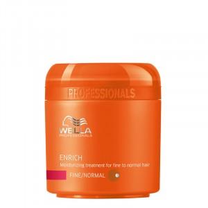 Wella Masque hydratant cheveux fins Enrich 150ML, Masque cheveux