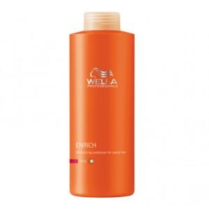 Wella Après-shampooing hydratant cheveux épais Enrich 1000ML, Après-shampoing avec rinçage