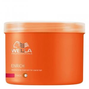 Wella Masque hydratant cheveux épais  Enrich 500ML, Masque cheveux