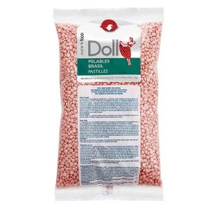 Doll Cire gouttelette pelable Rose 1kg, Cire gouttelette