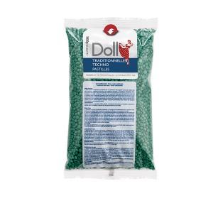Doll Cire gouttelette non pelable Verte 1kg, Cire gouttelette