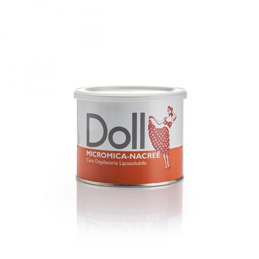 Doll Cire d'épilation micromica Nacrée 400ML, Pot de cire