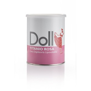 Doll Cire d'épilation Rose titane 800ML, Pot de cire