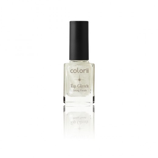 Top coat pailleté argent colorii 11ml